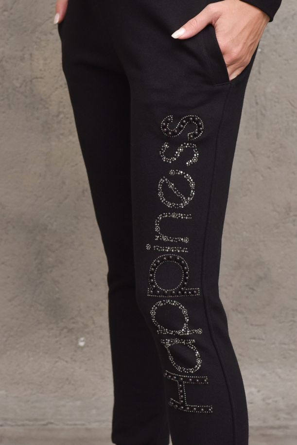 Men's fleece trousers logo with application. CLASSIC_SSI21BBLACK