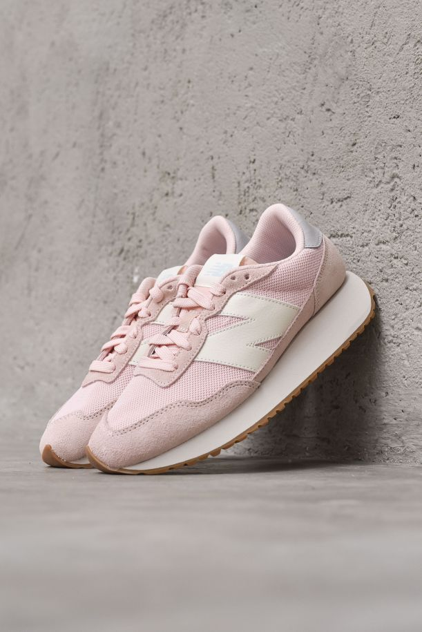 Women's sneaker shoes suede with logo. 237WS237HL1ROSE/SILVER