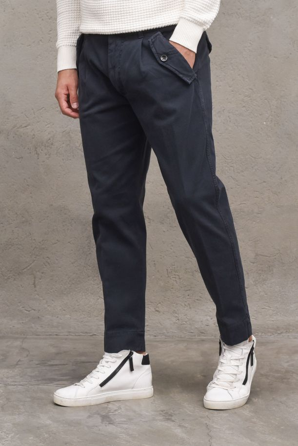 Men's pants with pinces and pockets. OF1F2W1P036BLU NAVY