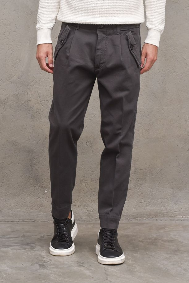 Men's pants with pinces and pockets. OF1F2W1P036MID GREY