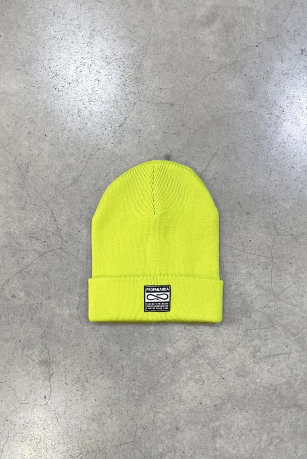 Unisex hat with logo patch lime. 21FWPTAC685LIME