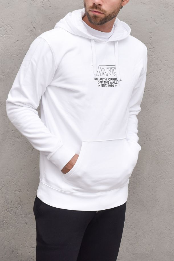 Men's hoodie with stamp white. SEQUENCE POVN0A5KDUWHT1WHITE
