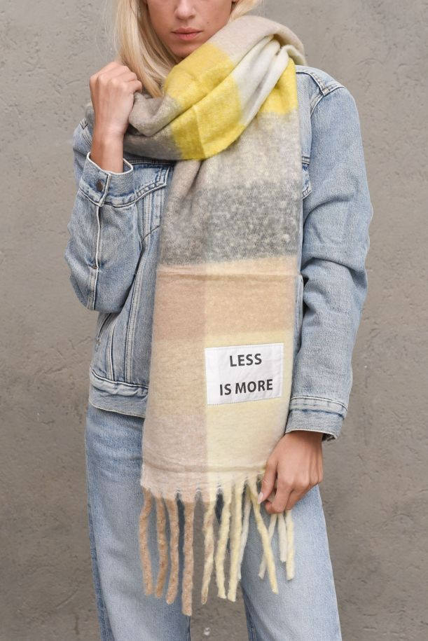 Women's maxi long scarf Less is More. SF010MULTICOLOR