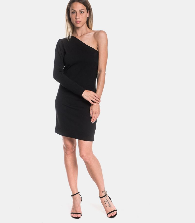 Women's oneshouder dress black