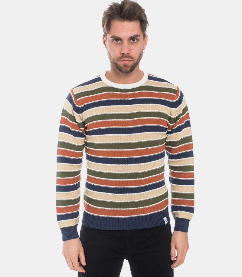 Men's multicolor stripes sweater