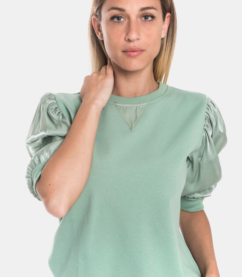 Women's 3/4 sleeve sweatshirt green