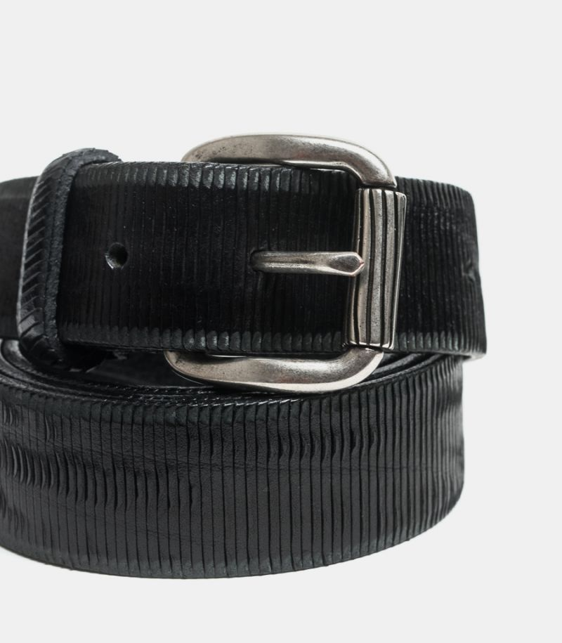 Men's cutted belt Velvet black