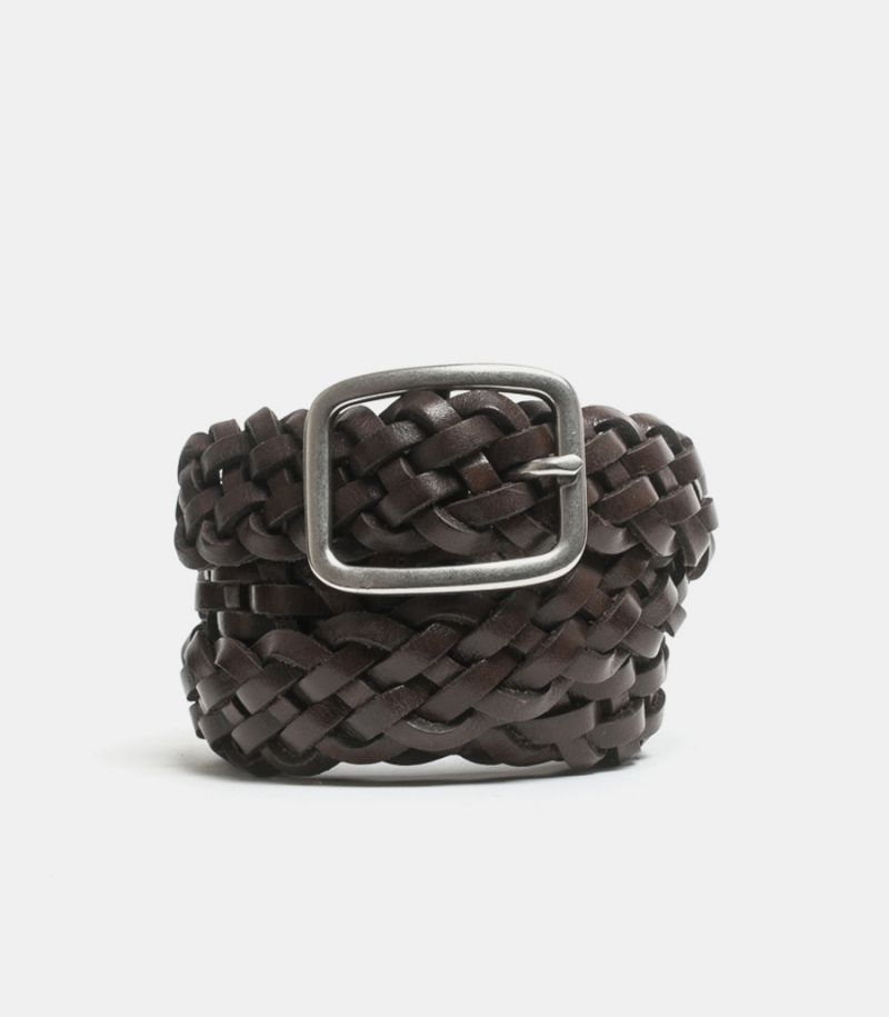 Men's braided belt brownie