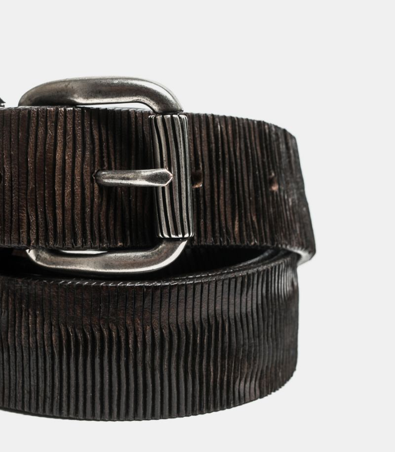 Men's cutted belt brownie
