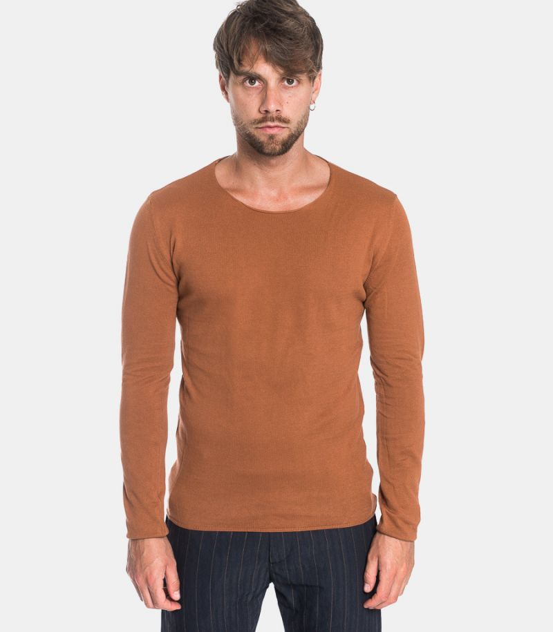 Men's raw cut roundneck sweater crock