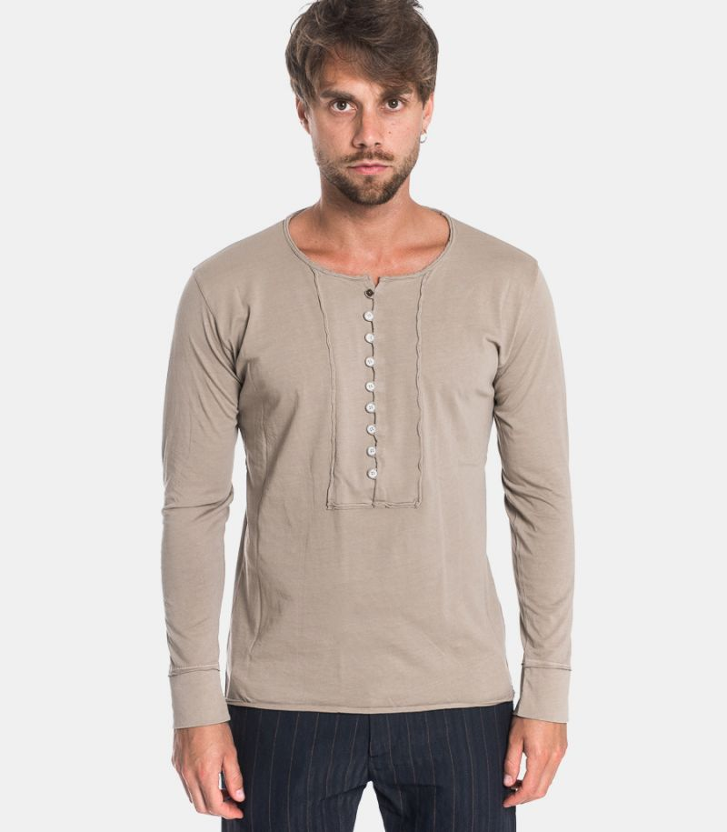 Men's serafino sweater dove gray
