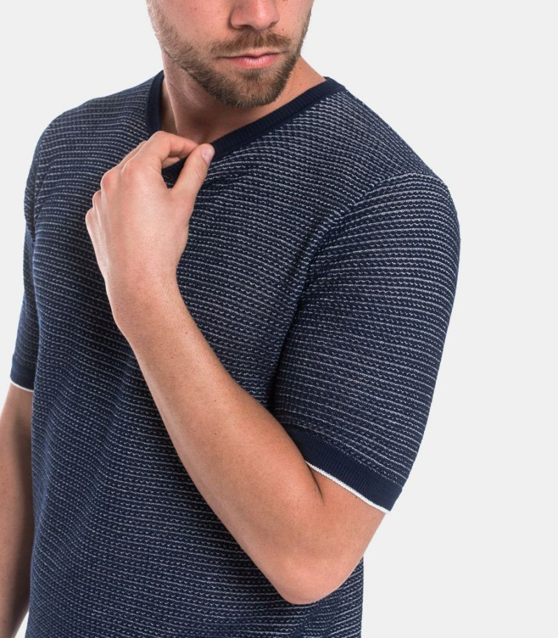 Men's microworked t-shirt blue
