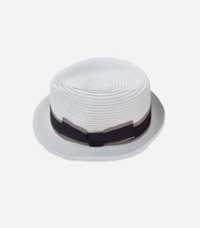 Men's hat with band beige