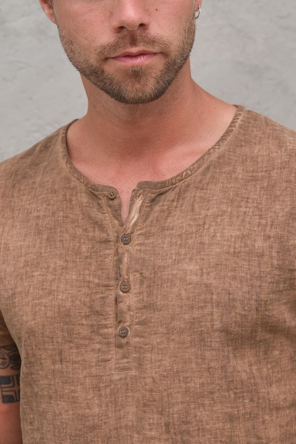 Men's seraph cold dyed t-shirt earthenware. BC224TERRA