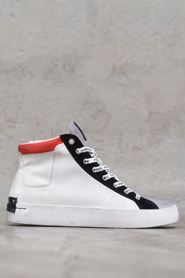 Men's snekaer shoes high Heritage white black red.HIGH TOP HERITAGE11362PP3.68BIANCO/NERO/ROSSO