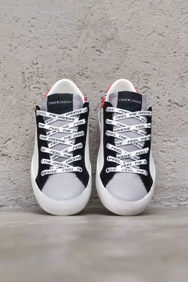 Men's sneaker shoes low top Heritage white black red. LOW TOP HERITAGE11306PP3.68BIANCO/NERO/ROSSO