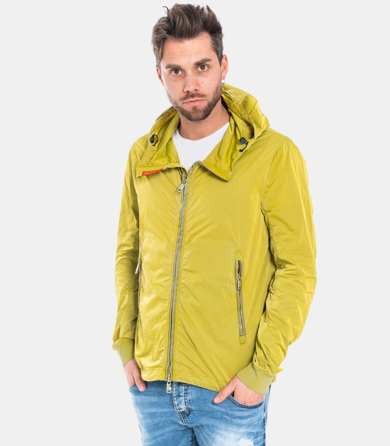 MEN'S WRINKLED TECHNICAL JACKET LIME