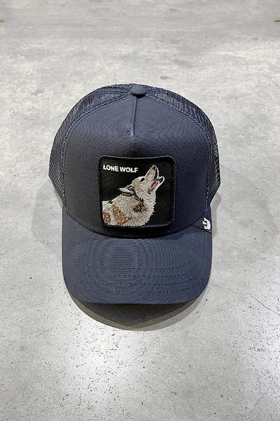 Men's hat Lion Wolf blue. 101-6099BLU