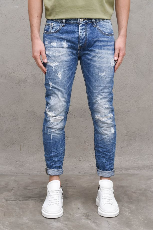 Men's trousers jeans mending denim. RJ 9109DENIM