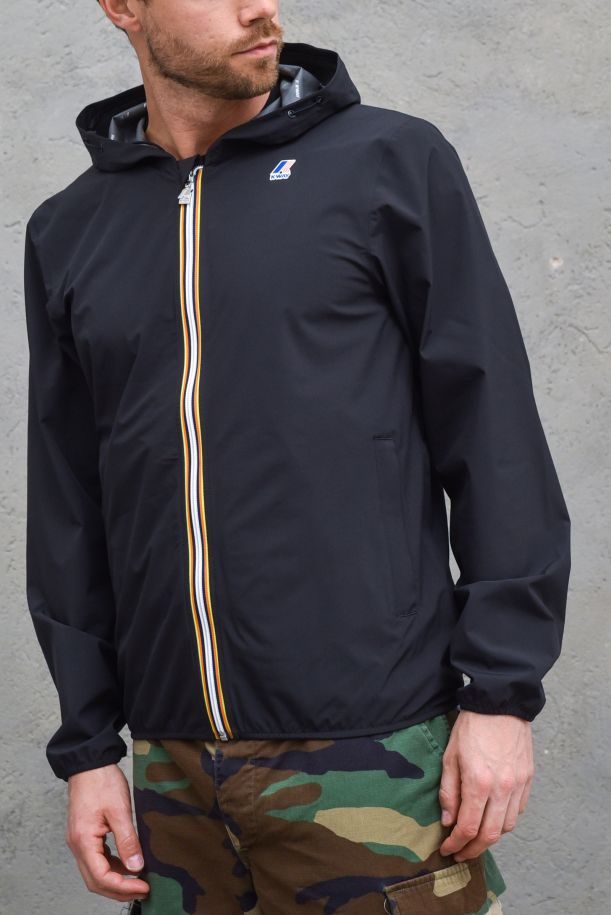 Men's technical jacket with loge black. K00BBV0JACQUES STRETCH DOTBLACK PURE