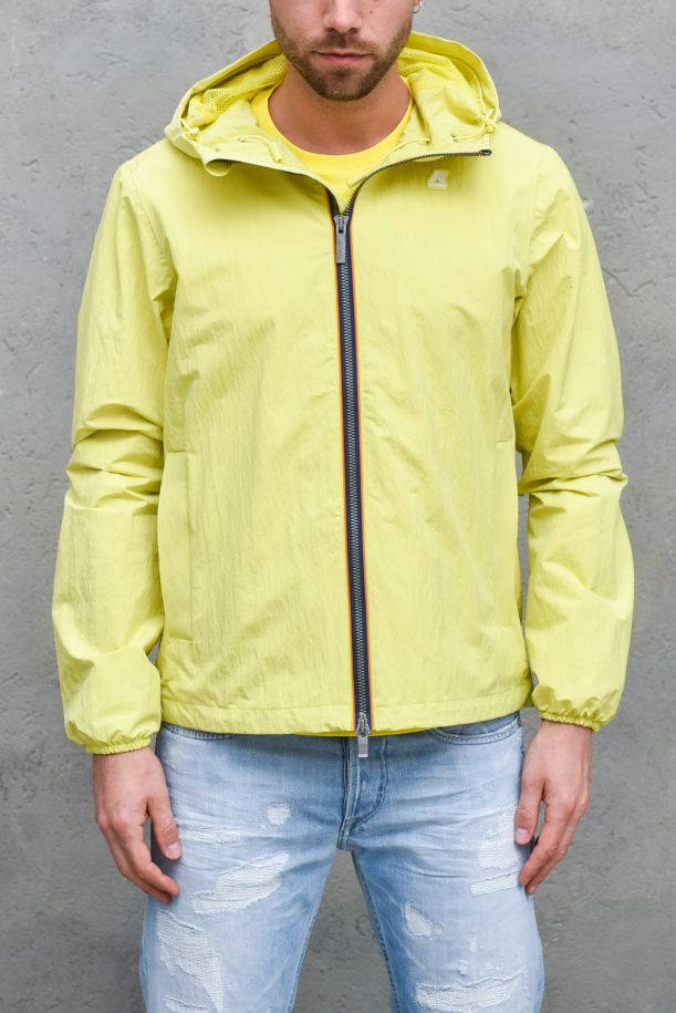 Men's jacket with hoody ristop lime. K5118IWJACQUES CRINKLE RIP-STOPYELLOW LEMON