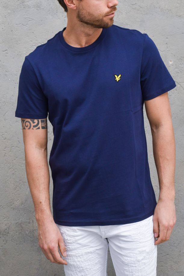 Men's basic t-shirt embroidered logo navy. TS400VNAVY