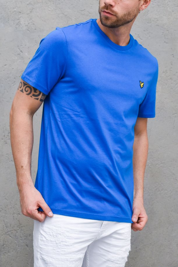 Men's basic t-shirt embroidered logo light blue. TS400VOGBRIGHT COBALT