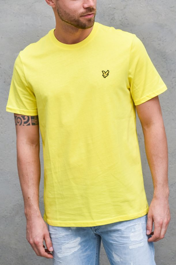 Men's basic t-shirt embroidered logo yellow. TS400VOGBUTTERCUP YELLOW
