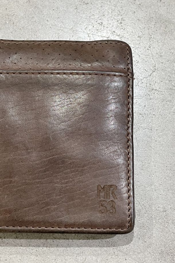 Men's wallet real leather card holder brown. MRS211P155MORO