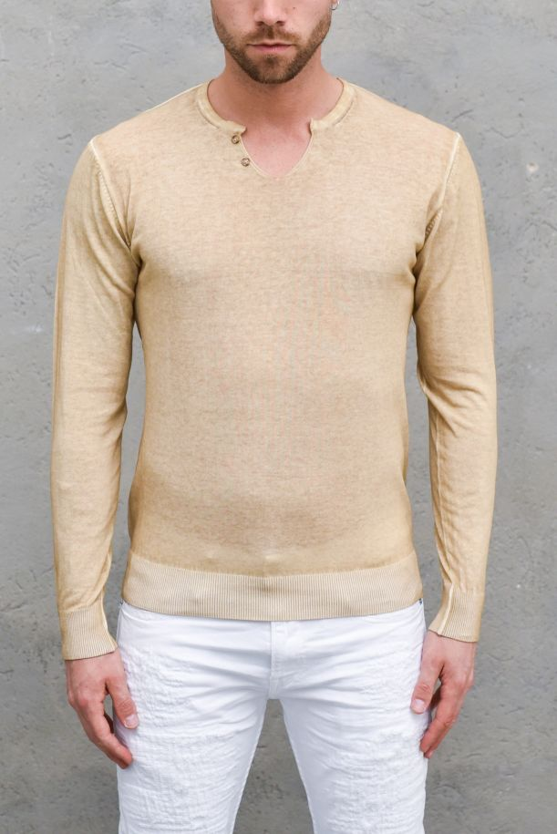 Men's cold washed sweater rope. OF1S2S1M024/184CORDA