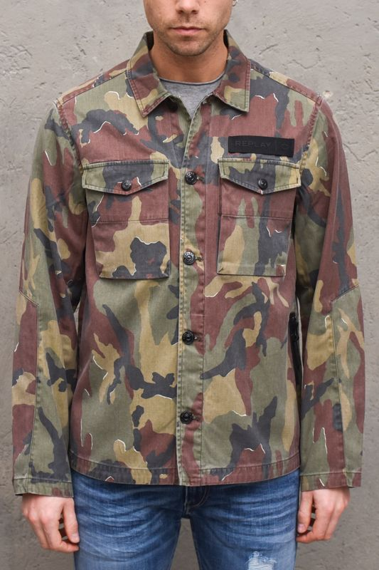Men's camouflage jacket Twill military. M8138ACAMOUFLAGE MILITARE