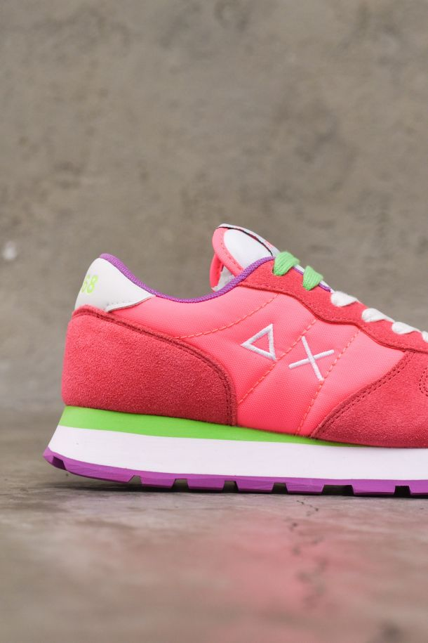 Women's running shoes adult Ally Solid nylon fuchsia fluo. Z31201FUXIA FLUO