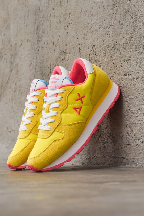 Women's running shoes adult Ally Solid nylon yellow fuchsia fluo. Z31201GIALLO FLUO