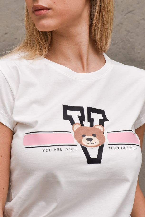 Women's t-shirt You are more than you think white. RH0088BIANCO