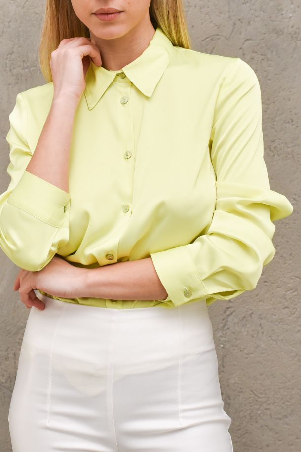 Women's basic shirt lime. TH0165LIME