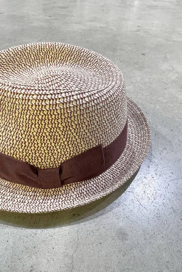 Men's hat straw with band rust. 1559RUGGINE