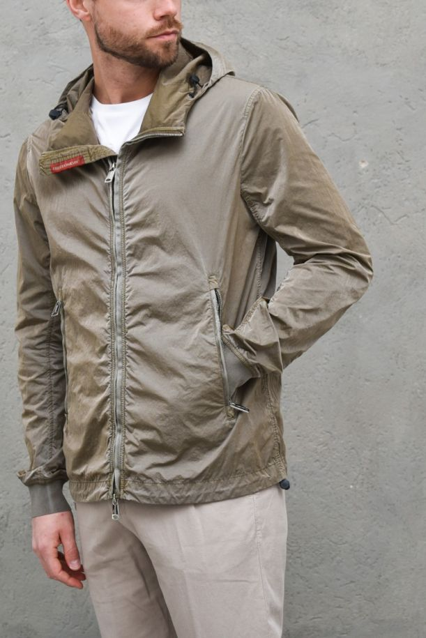MEN'S WRINKLED TECHNICAL JACKET COFFEE