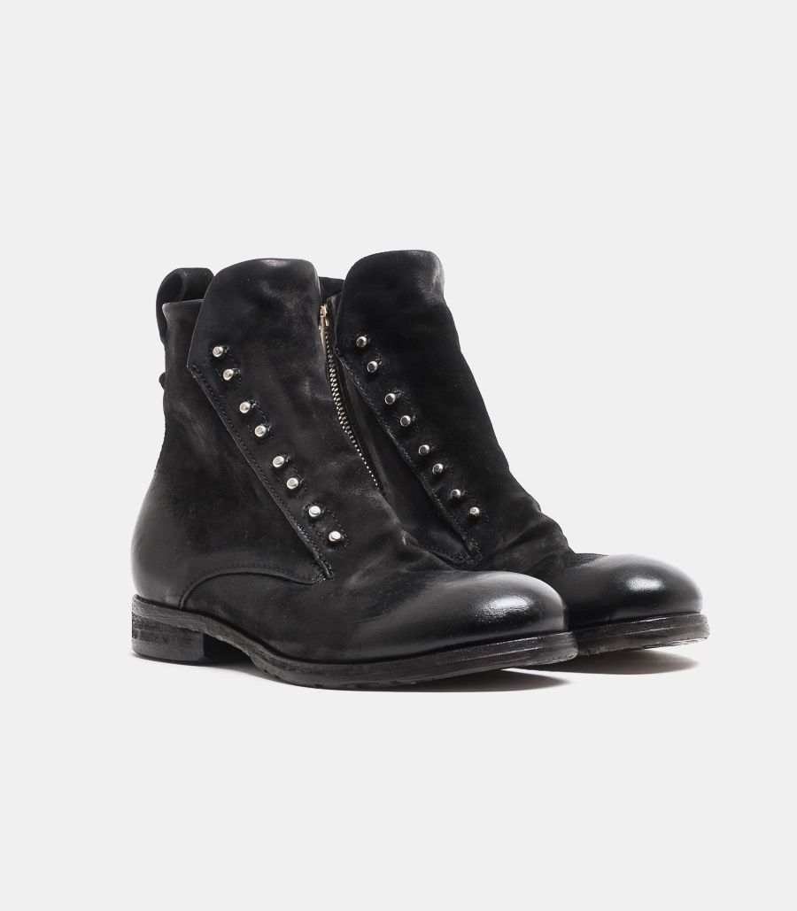 Men's ankle boot with zip, black. 401231