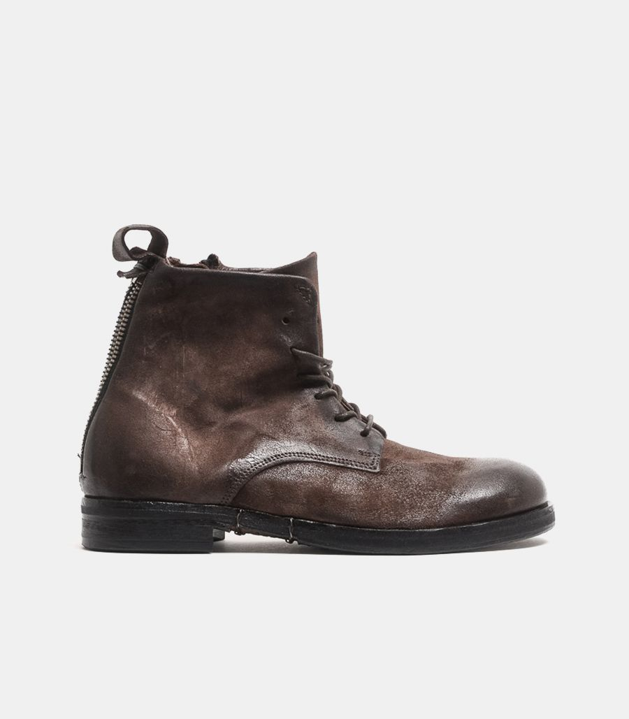 Men's high boot leather brown. 477220