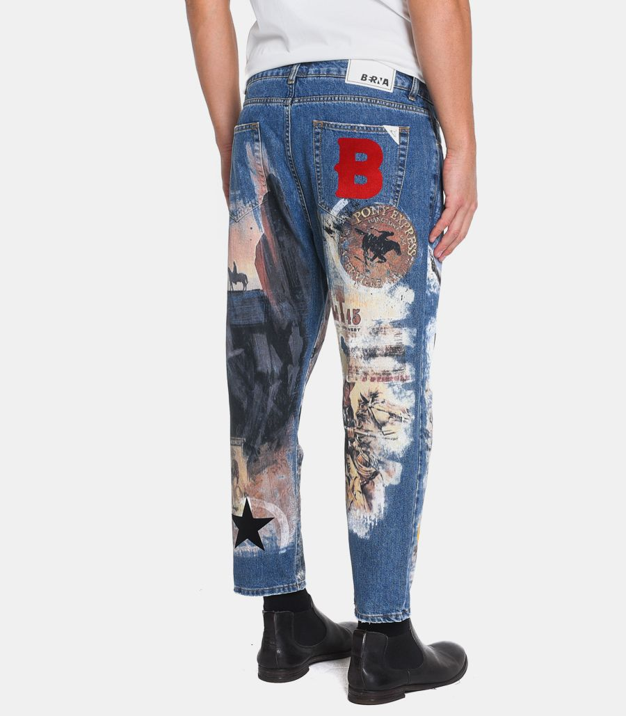 Men's jeans trousers Texas stamp blue. M205197-20