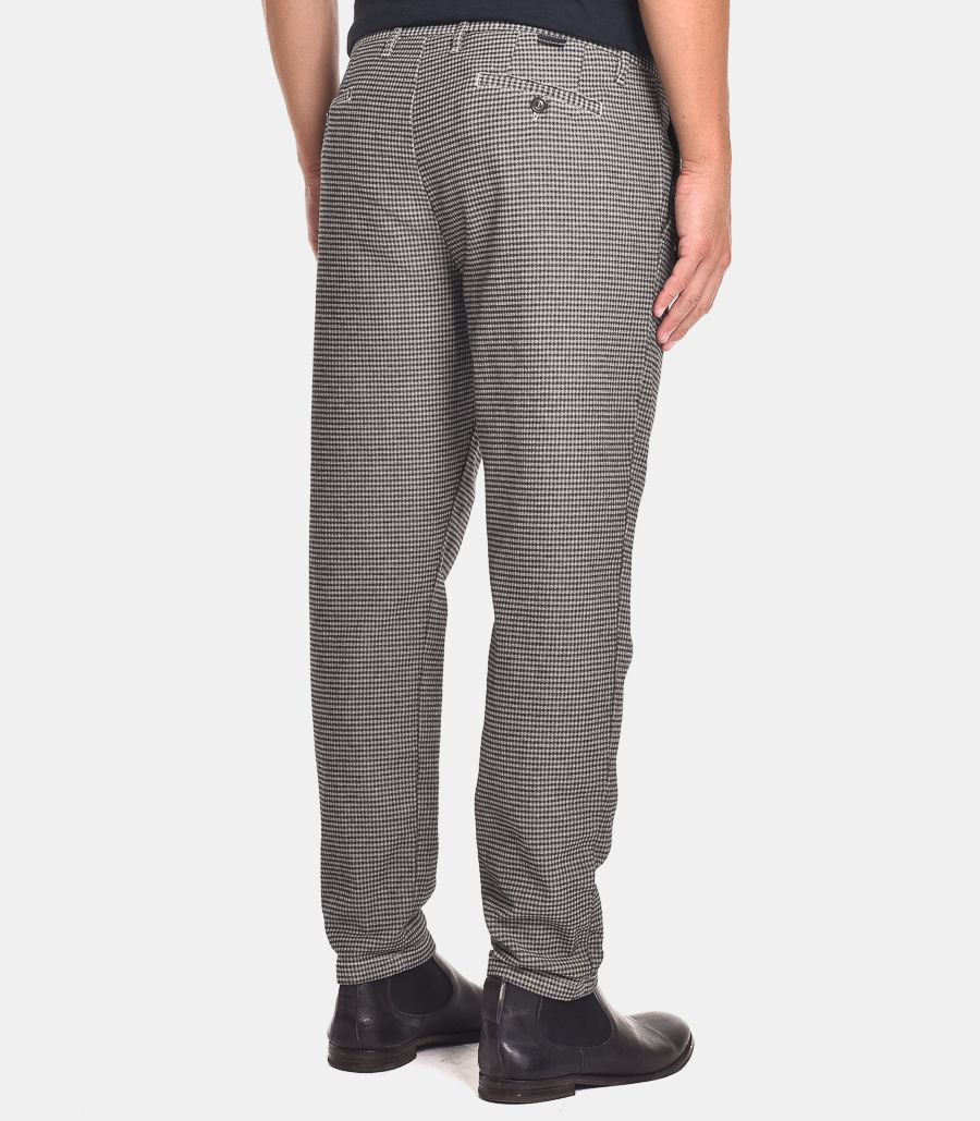 Men's micropattern trousers with pence, 10A20STRACCIATELLA128