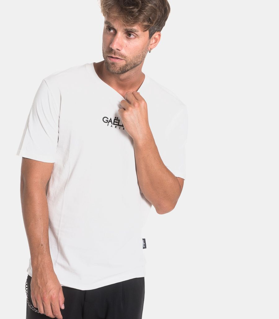 Men's embroidered logo t-shirt white. GBU3050