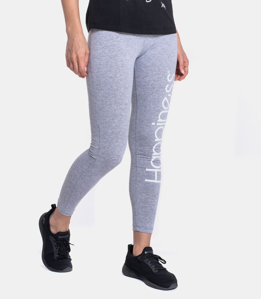 Women's leggings trousers with logo grey. EL_LEG2