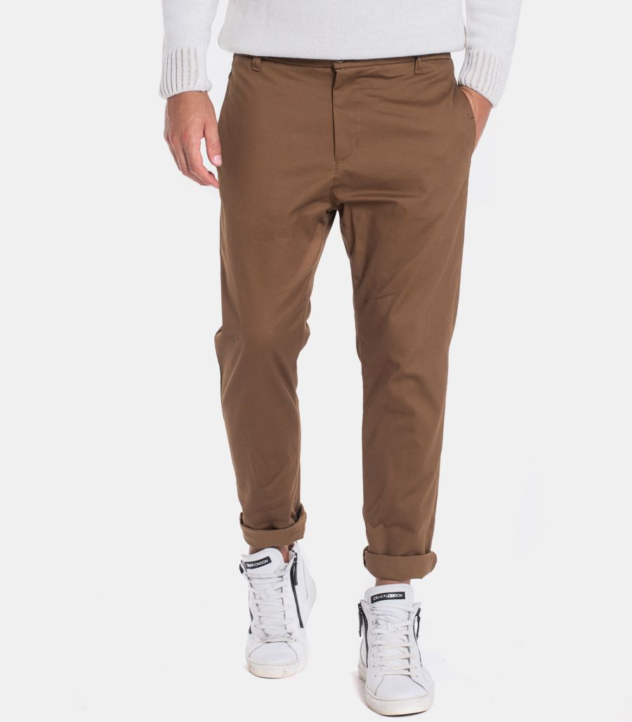Men's chino trousers with patch brown. OF1F2W0P022/157