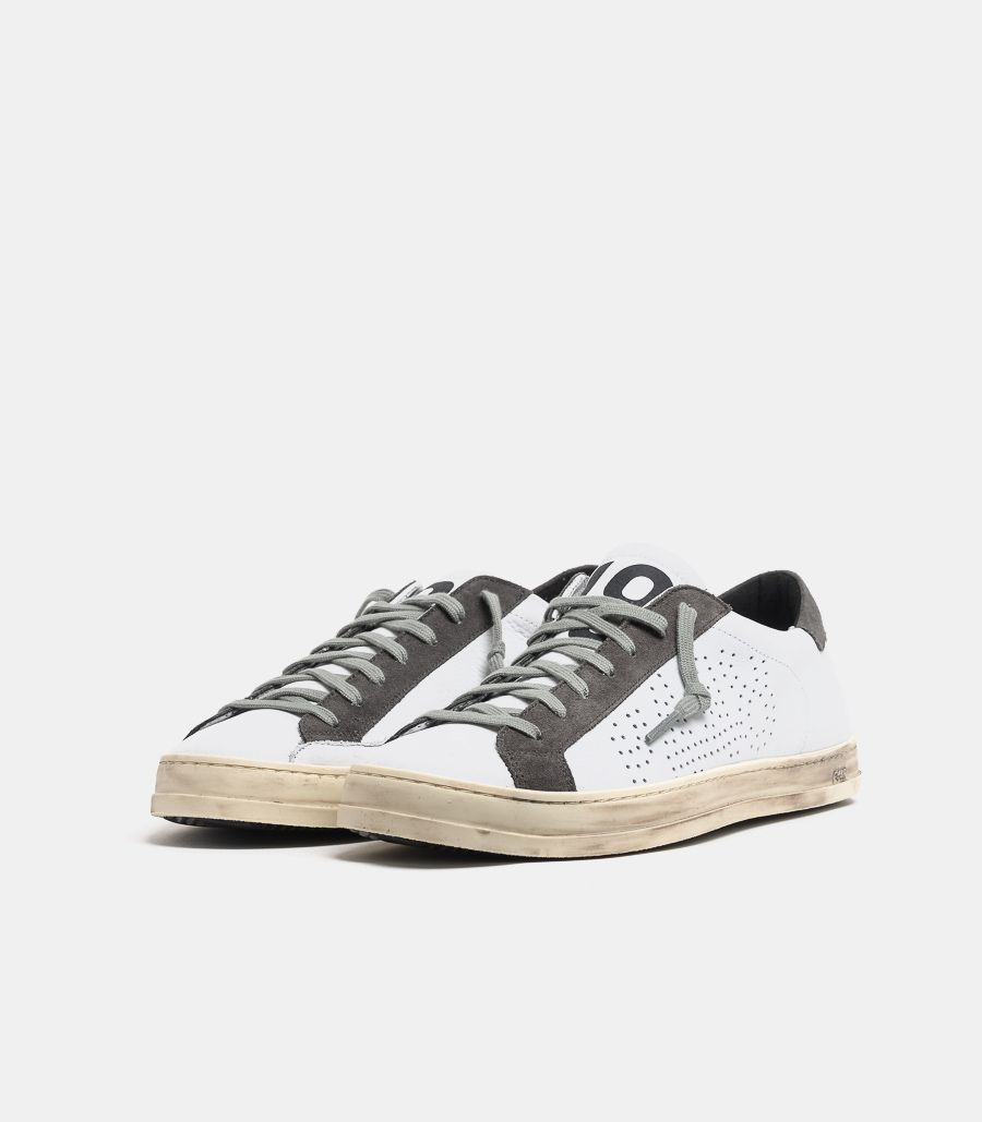 Men's sneaker shoe John white grey. F20BJOHN-M