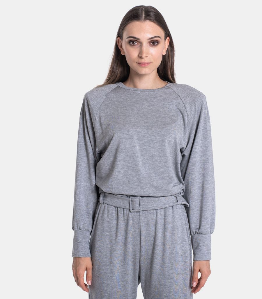 Women's soft sweater grey. FA65ACB