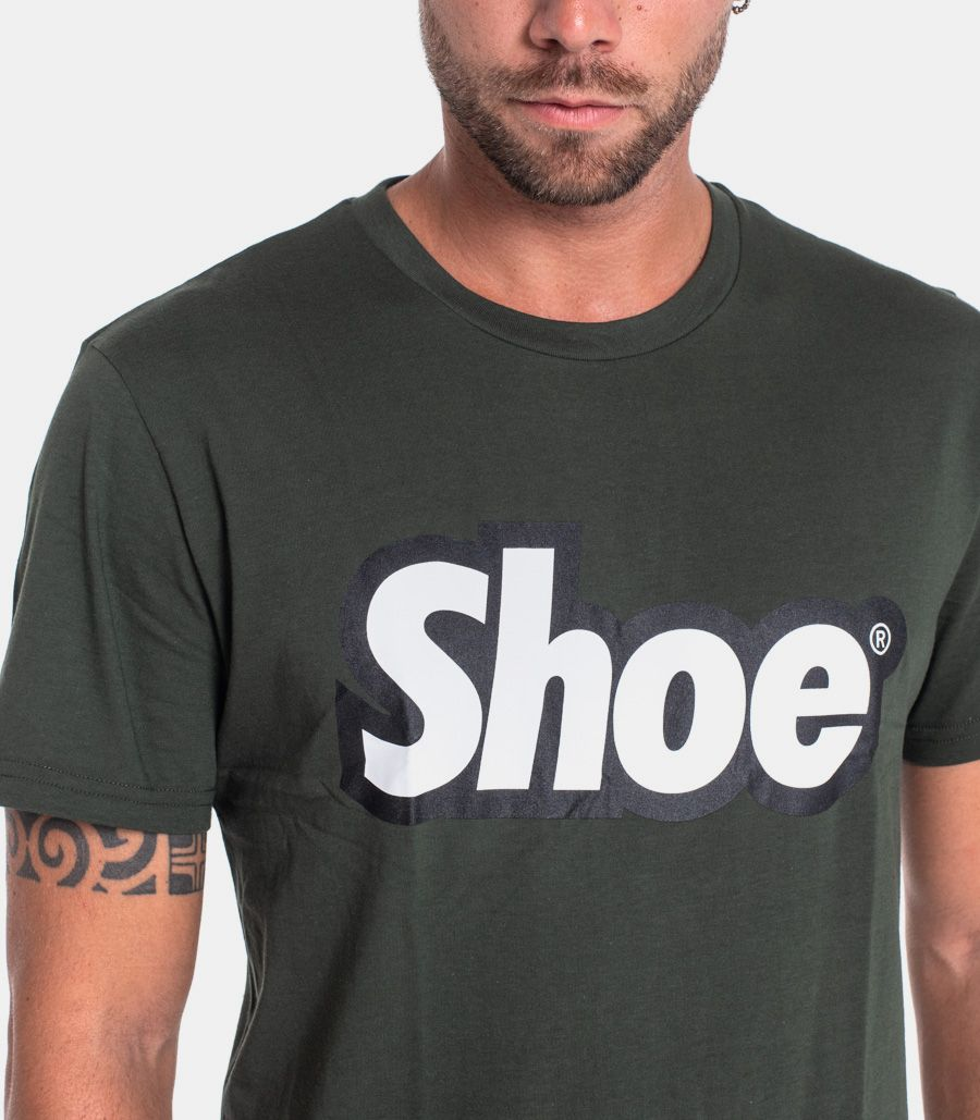 Men's t-shirt with logo green. TED0101