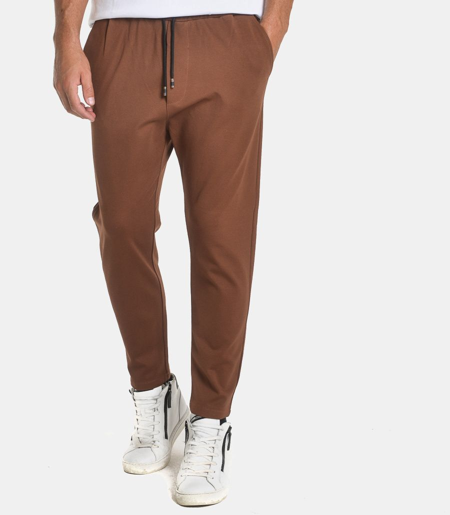 Men's trousers with lace tobacco. PAN91