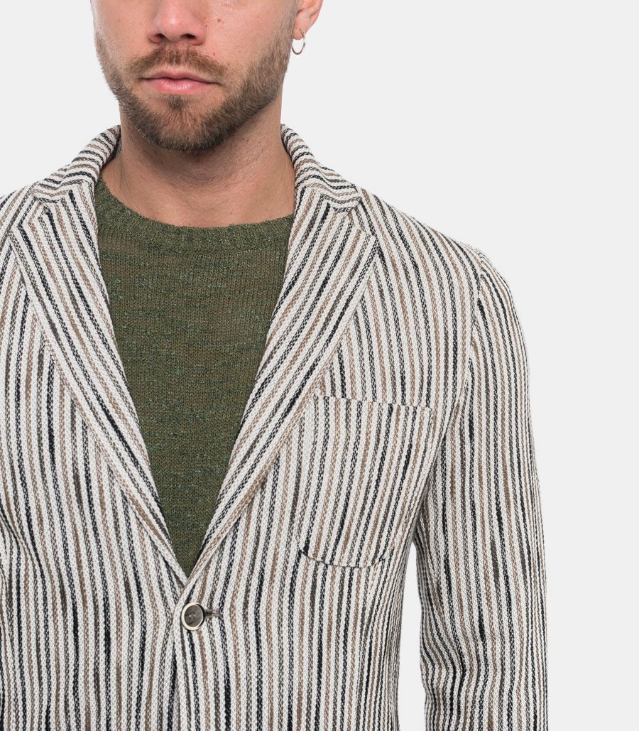 GIANNI LUPO MEN'S JACKET CHALKS
