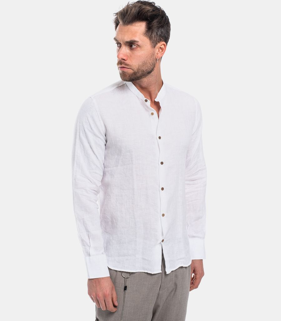 MEN'S KOREAN LINEN SHIRT